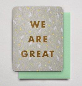 Hammerpress We Are Great Greeting Card