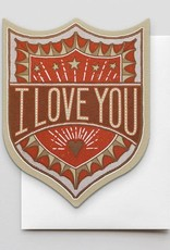 I Love you Badge Greeting Card