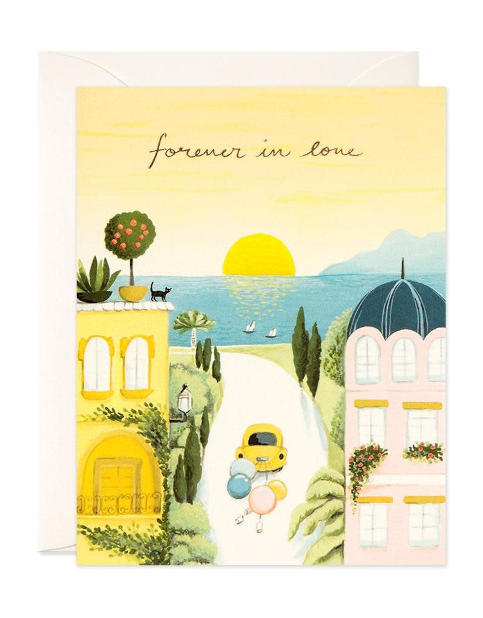 Forever in Love Wedding Greeting Card
