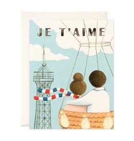 Je T'Aime Hot Air Balloon Greeting Card