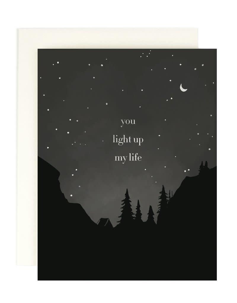 Amy Heitman Illustration You Light Up My Life Night Sky Greeting Card