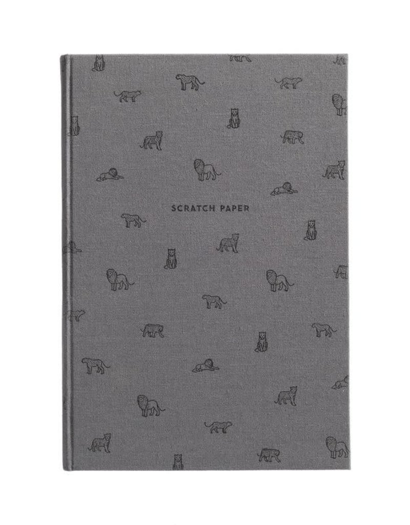Easy, Tiger Lions Scratch Paper Notebook
