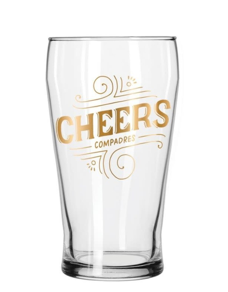 Easy, Tiger Cheers Compadres Pub Glass
