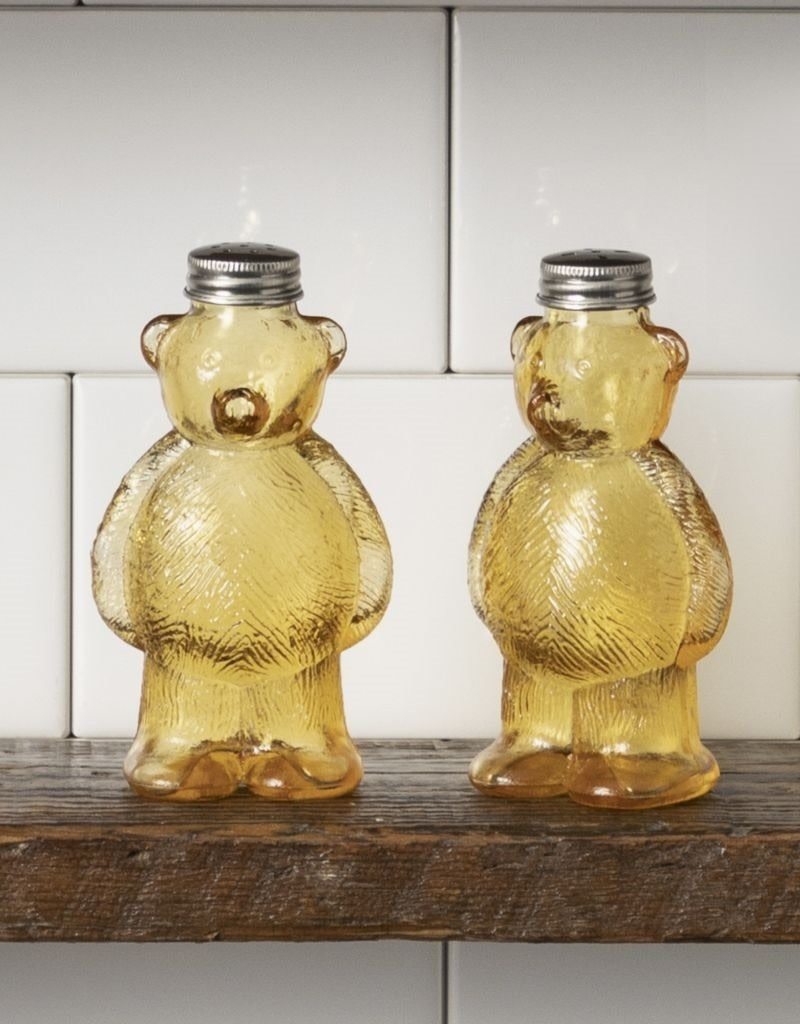 Easy, Tiger Glass Bear Salt & Pepper Shakers