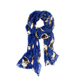 Joy Accessories Pug Dog Print Scarf
