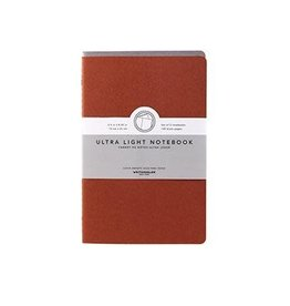 Kikkerland Ultra Light Notebook - Grey & Burnt Orange