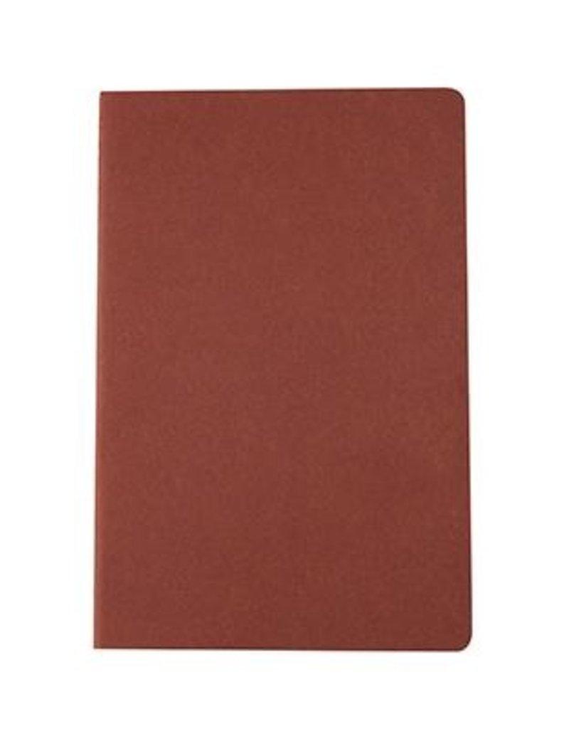 Kikkerland Ultra Light Notebook - Grey & Burnt Orange