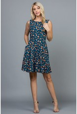 LA Soul Fox Print Dress with Pockets