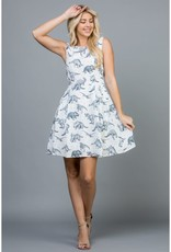 LA Soul All Over Dinosaur Print Dress with Pockets