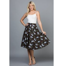 LA Soul Sloth Flowy Skirt with Pockets