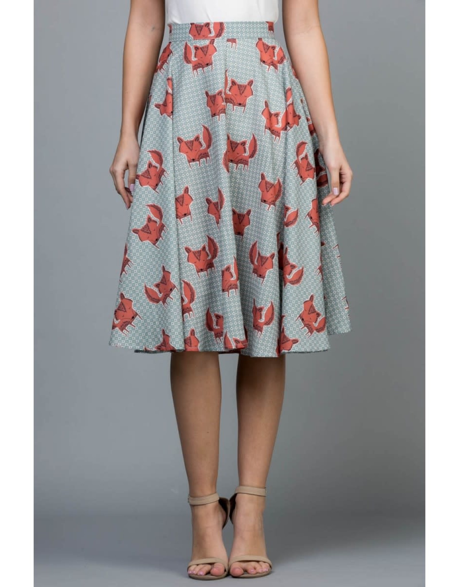 Fox Flowy Skirt with Pockets