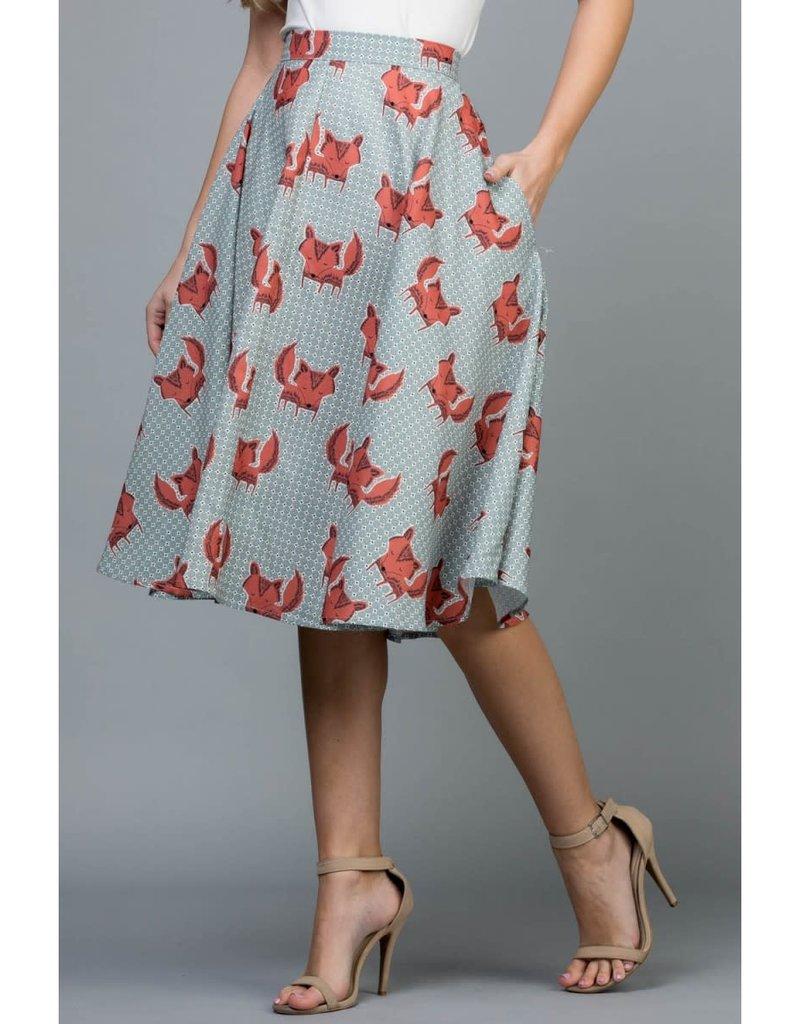 LA Soul Fox Flowy Skirt with Pockets