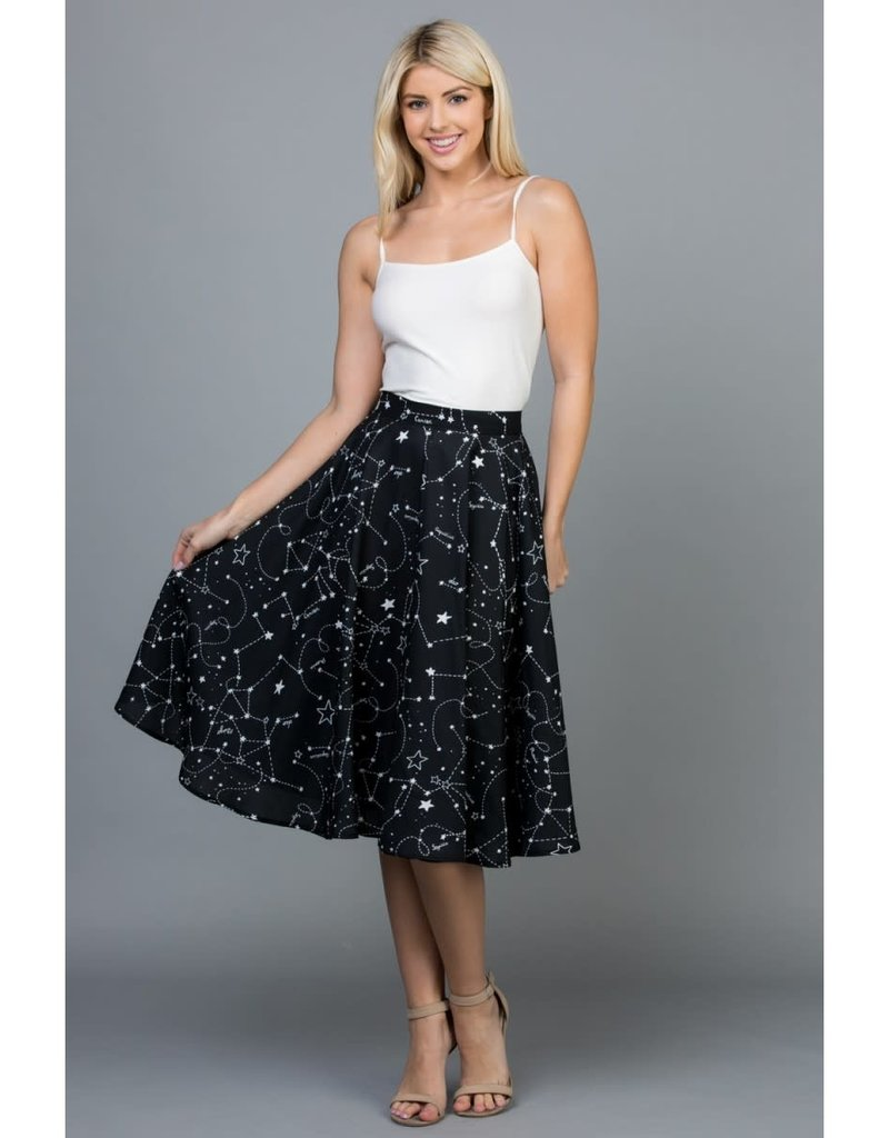 LA Soul Constellation Flowy Skirt with Pockets