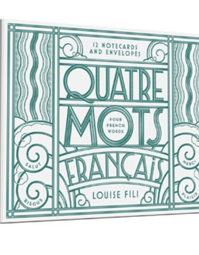 Princeton Architectural Press Quatre Mot Francais Notecards (Set of 10)