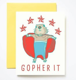 Ilootpaperie Gopher It Greeting Card