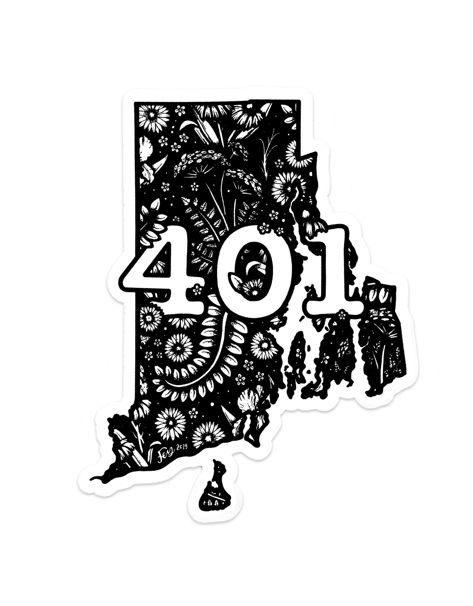 Floral RI Sticker - 401
