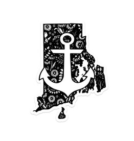 Ink & Iris Designs Floral RI Sticker - Anchor