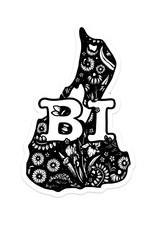 Ink & Iris Designs Floral Block Island Sticker