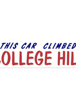 This Car Climbed College Hill Bumper Sticker