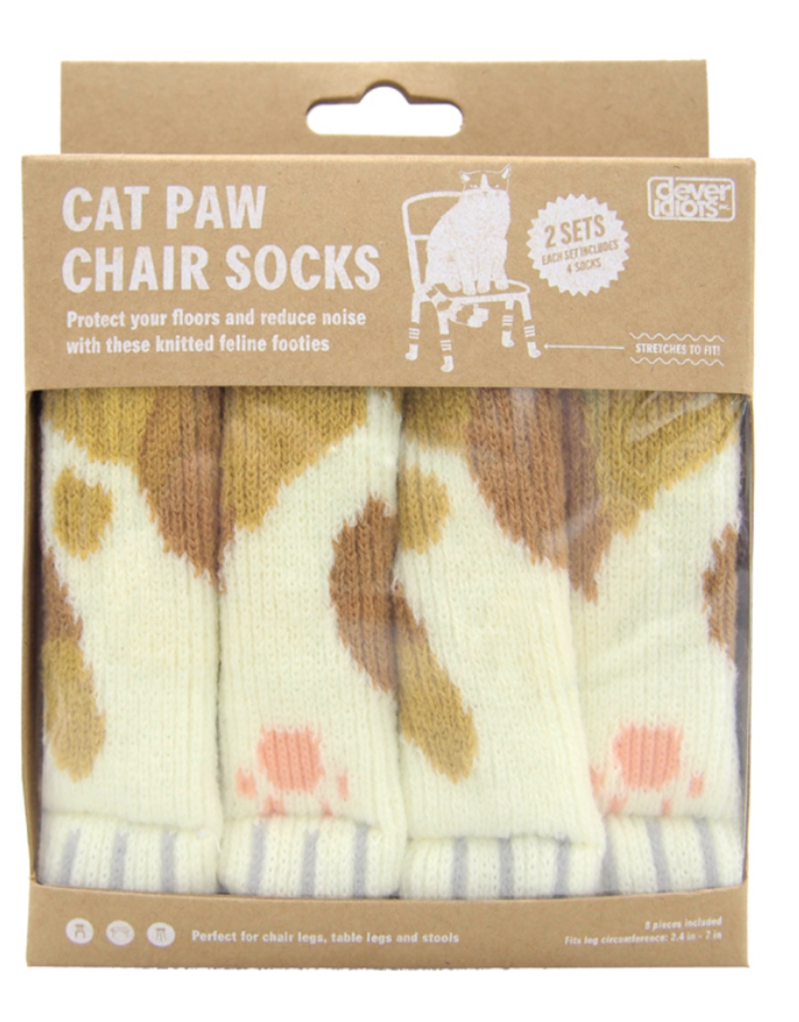 Cat Paw Chair Socks - Orange Calico