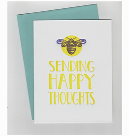 Spofford Press Sending Happy Thoughts Bee Greeting Card