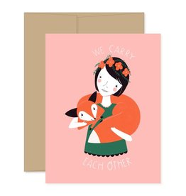 Gingiber We Carry Each Other Greeting Card