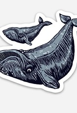 Spofford Press Bowhead Whales Vinyl Sticker