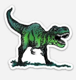 Spofford Press Rawr! Green Dinosaur Vinyl Sticker