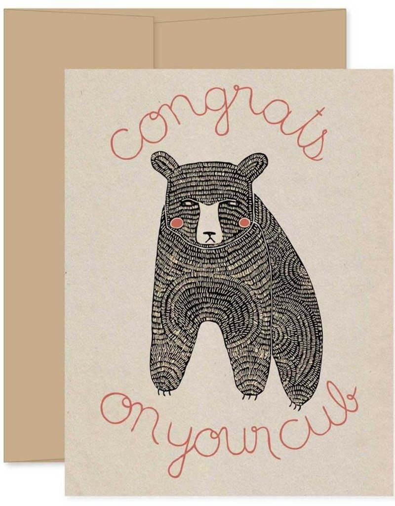 Gingiber Congrats on Your Cub Greeting Card