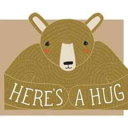 Gingiber Here's a Hug Die Cut Greeting Card