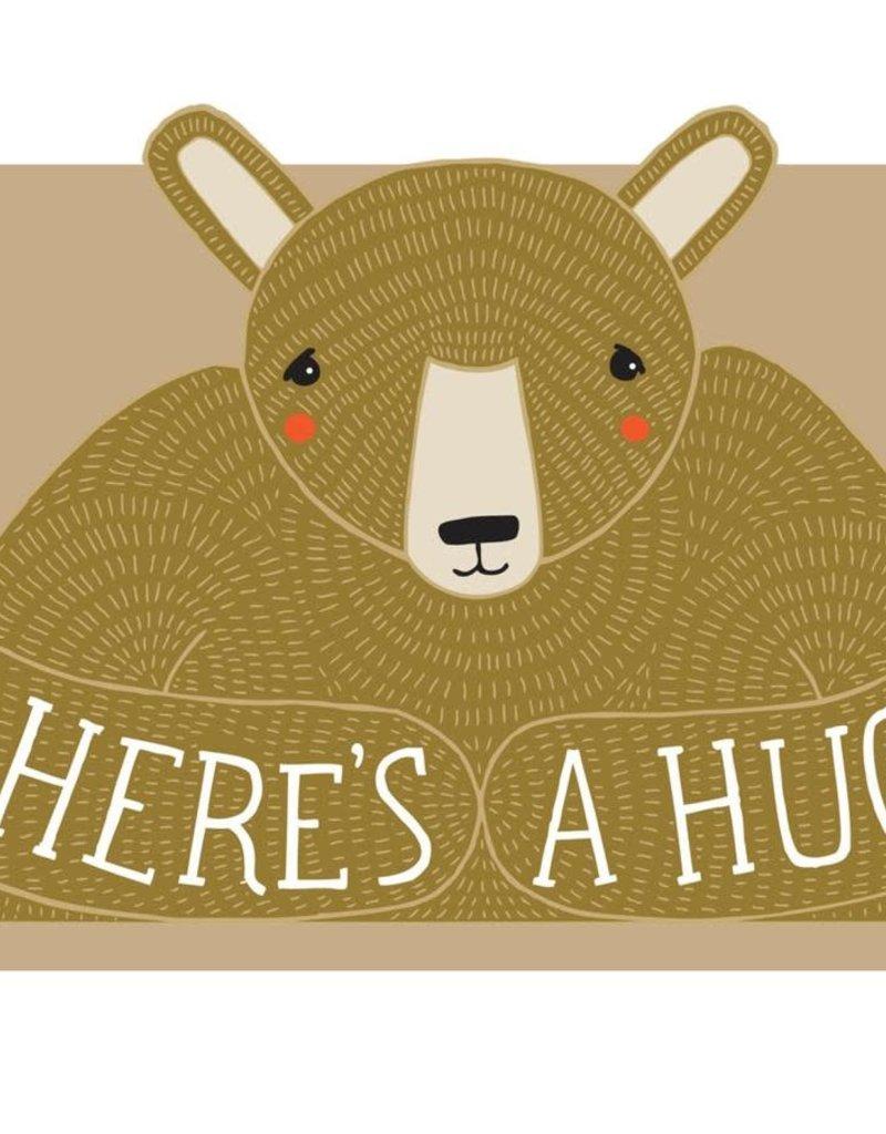Gingiber Here's a Hug Die Cut Greeting Card