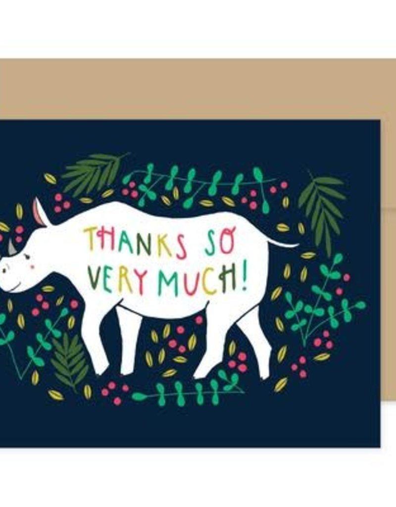 Gingiber Mixed Animal Thank You Card, Set of 8