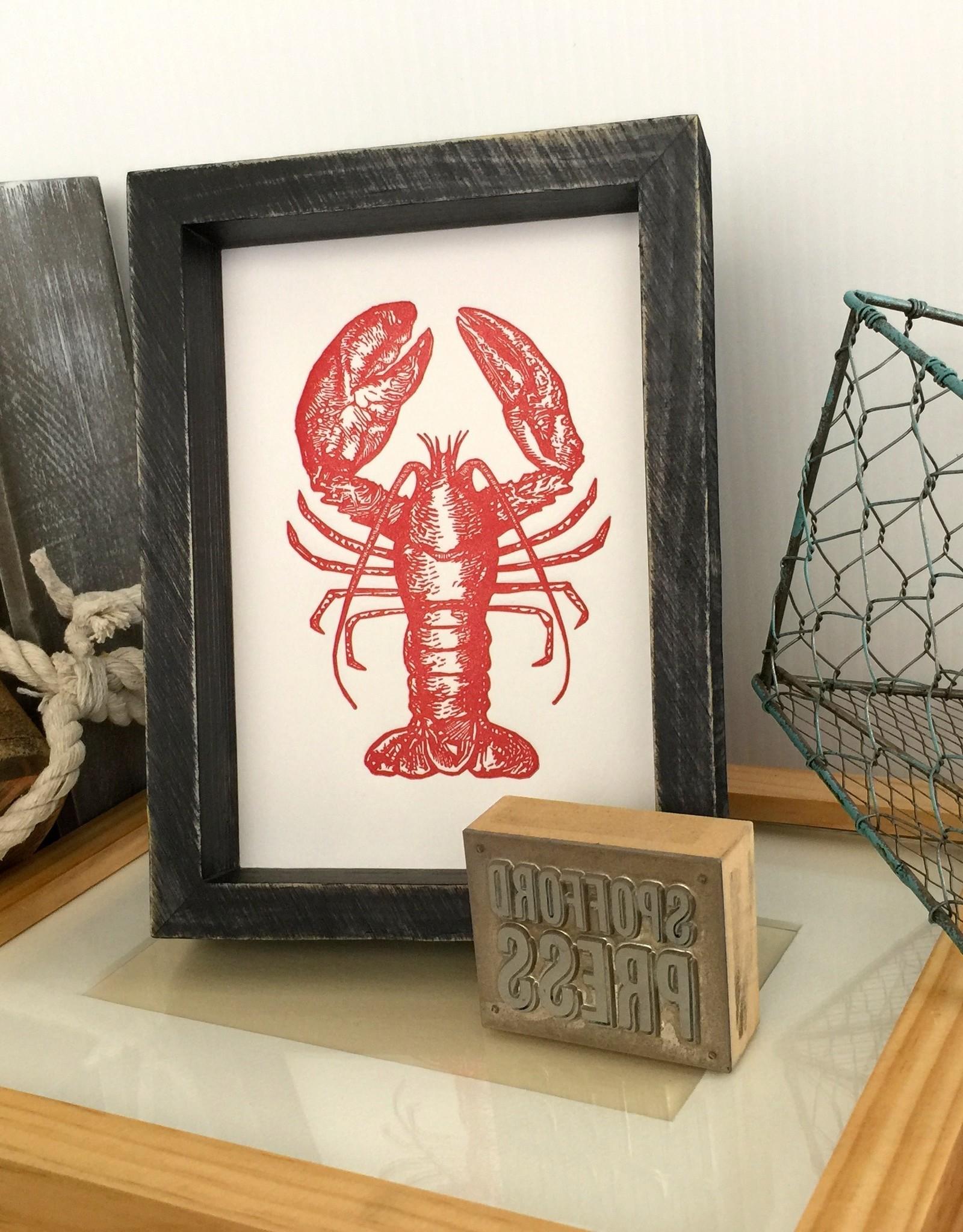 Red Lobster Letterpress Print