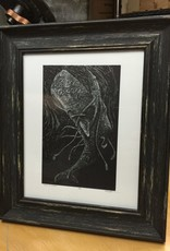 Spofford Press Squid vs Whale Wood Engraving