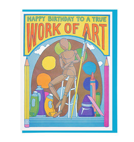 Lucky Horse Press Happy Birthday to a True Work of Art Birthday Card