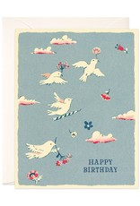 Flying Birds Birthday Card