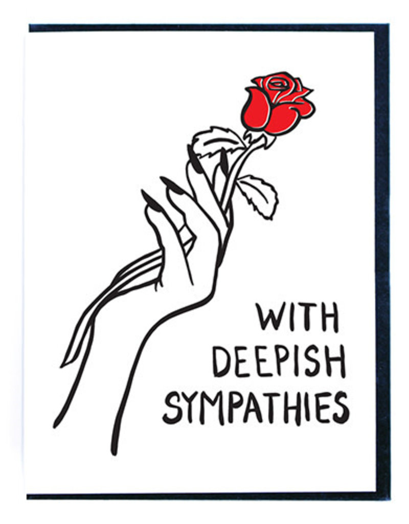 Smitten Kitten With Deepish Sympathies Greeting Card
