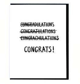 Smitten Kitten Congrats! Mispelling Greeting Card