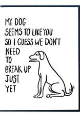 My Dog Likes You Greeting Card