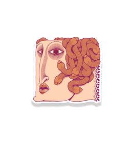 Paper Shuttle Medusa Sticker