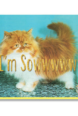 Smitten Kitten I'm Sowwy Greeting Card