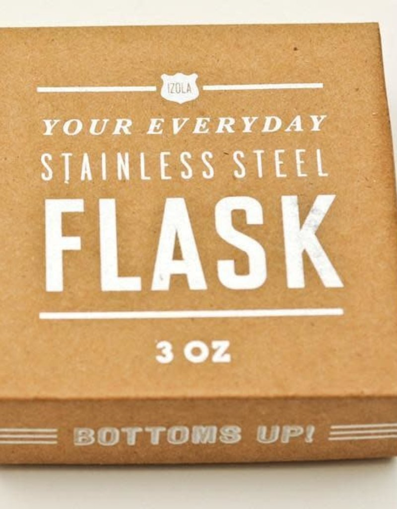 Izola Don't Drink And Ride (Bicycle) 3oz Flask