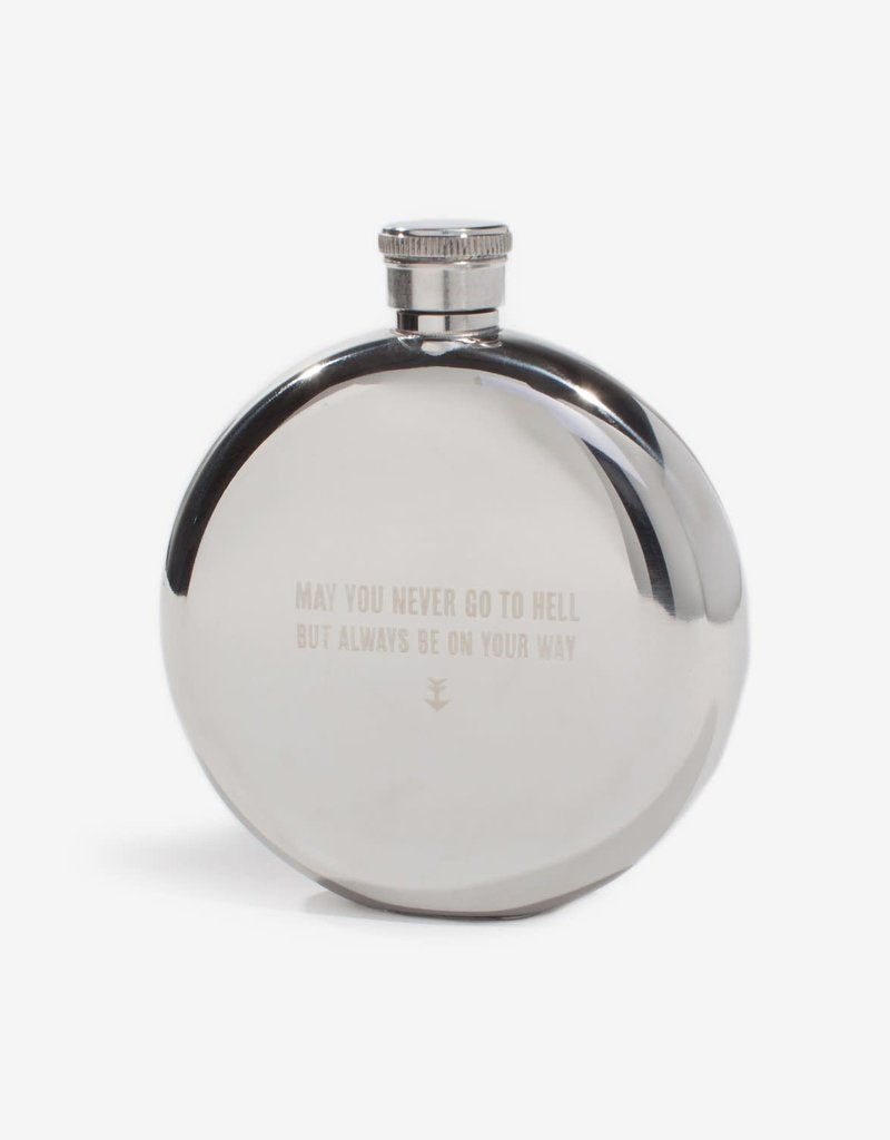 Izola May You Never Go To Hell, But Always Be On You Way, 5oz flask