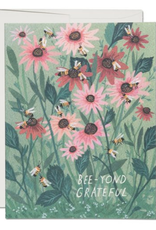 Red Cap Cards Bee-yond Grateful Greeting Card