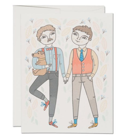 Red Cap Cards Boy Wedding Greeting Card