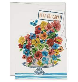 Red Cap Cards Let's Eat Cake Greeting Card