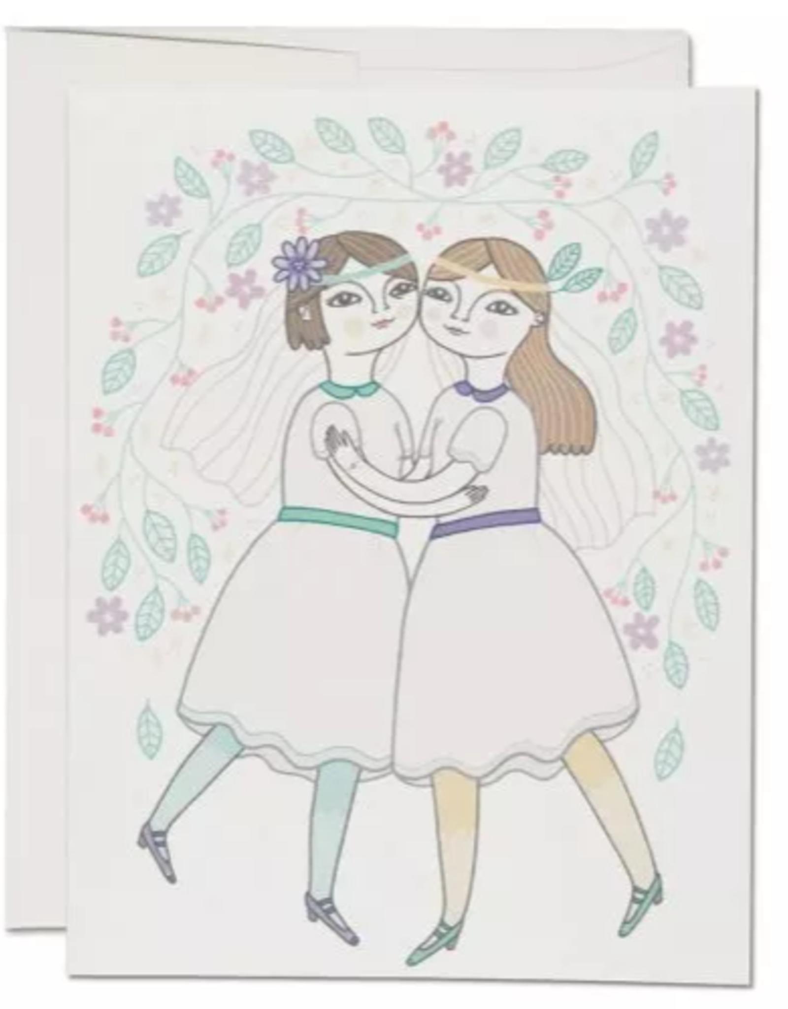 Girl Wedding Greeting Card