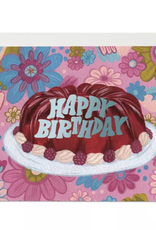 Red Cap Cards Happy Birthday Jello Mold Greeting Card