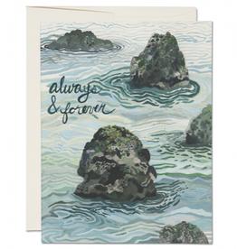 Red Cap Cards Always & Forever Ocean Greeting Card