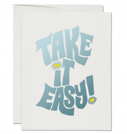 Red Cap Cards Take It Easy Greeting Card